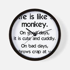 monkey_life1 Wall Clock