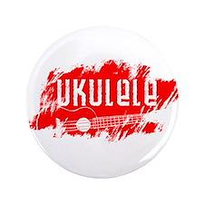 """Red Ukulele Uke 3.5"""" Button"""