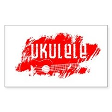 Red Ukulele Uke Decal