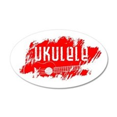 Red Ukulele Uke Wall Decal