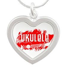Red Ukulele Uke Necklaces