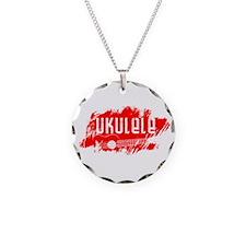 Red Ukulele Uke Necklace