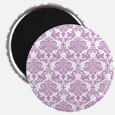 Purple Damask Magnets