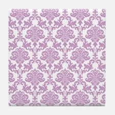 Purple Damask Tile Coaster