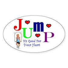 Jump Oval Decal