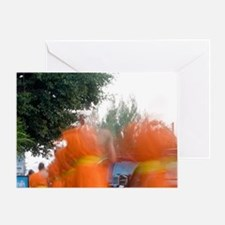 Asia; Thailand; Chiang Mai, Monk Pro Greeting Card