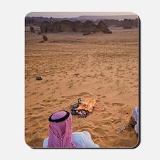 Bedouins making evening teat near the oa Mousepad