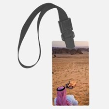 Bedouins making evening teat nea Luggage Tag