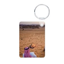 Bedouins making evening te Keychains