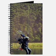 Paramotor skimming water, Diamond Lake, Pa Journal