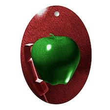 applappl3 Oval Ornament