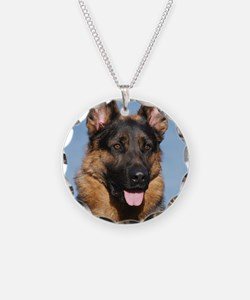 German Shepherd Dog 9Y554D-1 Necklace Circle Charm