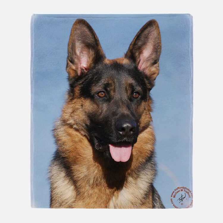 German Shepherd Dog 9Y554D-150 Throw Blanket