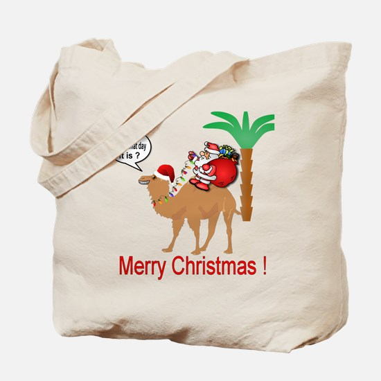 Hump Day Camel Merry Christmas Tote Bag