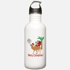 Hump Day Camel Merry Christmas Water Bottle