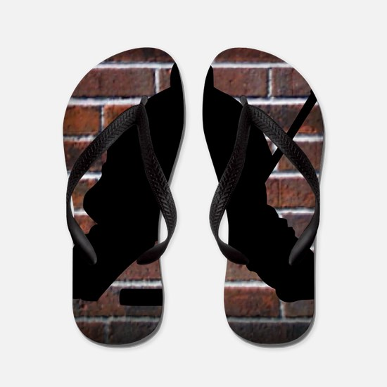 Hockie Goalie Brick Wall Flip Flops