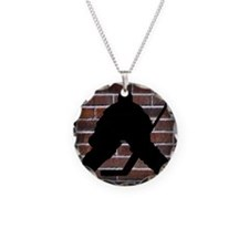 Hockie Goalie Brick Wall Necklace