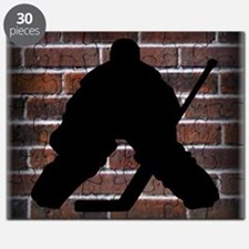 Hockie Goalie Brick Wall Puzzle