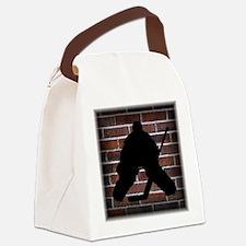 Hockie Goalie Brick Wall Canvas Lunch Bag