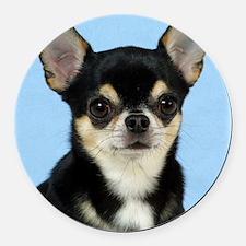 Chihuahua 9W092D-057 Round Car Magnet