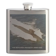 bfranklin small poster Flask