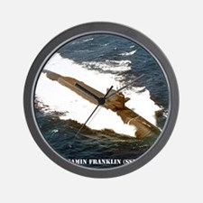 bfranklin small poster Wall Clock