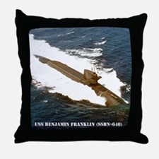 bfranklin small poster Throw Pillow
