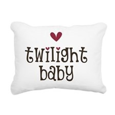 MauveHeart TwiBaby Rectangular Canvas Pillow