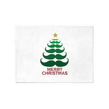 Moustache Christmas Tree 5'x7'Area Rug