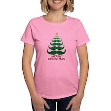Moustache Christmas Tree Tee