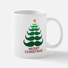 Moustache Christmas Tree Mug