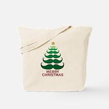Moustache Christmas Tree Tote Bag