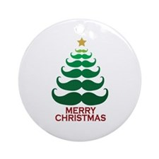 Moustache Christmas Tree Ornament (Round)