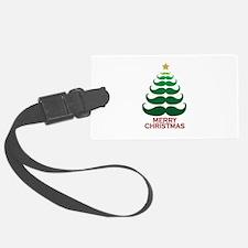 Moustache Christmas Tree Luggage Tag
