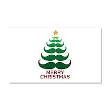 Moustache Christmas Tree Car Magnet 20 x 12