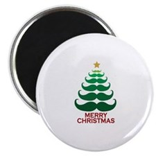 "Moustache Christmas Tree 2.25"" Magnet (10 pack)"