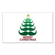 Moustache Christmas Tree Decal
