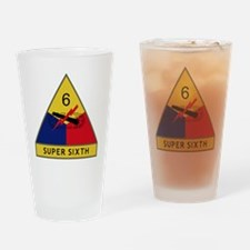 6th Armored Division - Super Sixth Drinking Glass