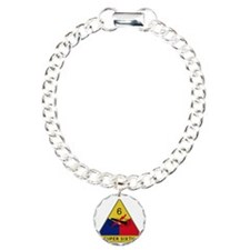 6th Armored Division - S Charm Bracelet, One Charm