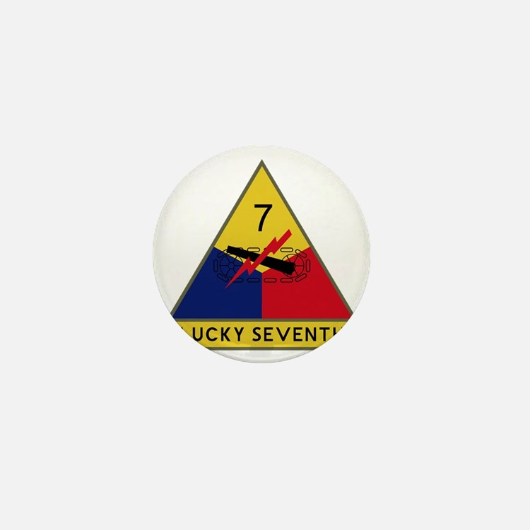 7th Armored Division - Lucky Seventh Mini Button