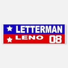 LETTERMAN / LENO 2008 Bumper Bumper Bumper Sticker
