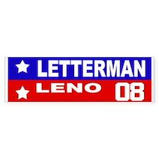 LETTERMAN / LENO 2008 Bumper Bumper Sticker
