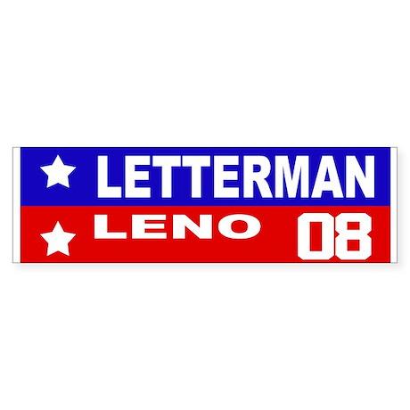 LETTERMAN / LENO 2008 Bumper Sticker