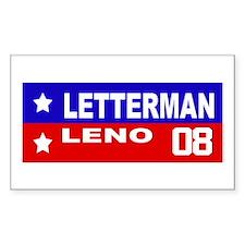 LETTERMAN / LENO 2008 Rectangle Decal