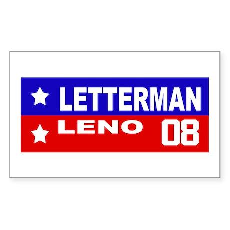 LETTERMAN / LENO 2008 Rectangle Sticker
