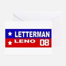 LETTERMAN / LENO 2008 Greeting Cards (Pk of 10