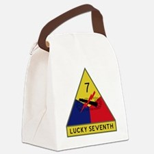 7th Armored Division - Lucky Seve Canvas Lunch Bag