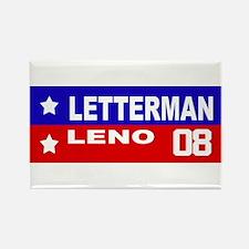 LETTERMAN / LENO 2008 Rectangle Magnet