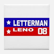 LETTERMAN / LENO 2008 Tile Coaster