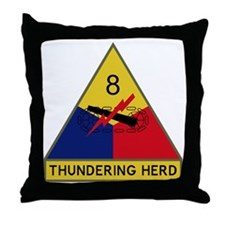 8th Armored Division - Thundering Her Throw Pillow